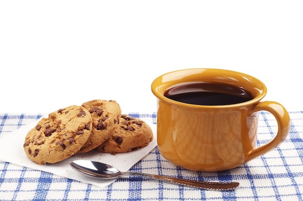 Tasse de café et biscuits