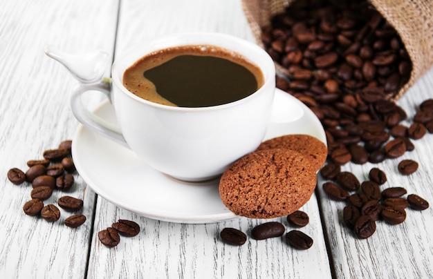 Tasse de café et des biscuits