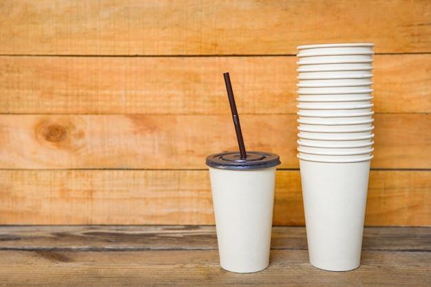 Tasse à café écologique à emporter, emballage alimentaire écologique jetable