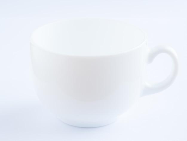 Tasse à café en fond blanc