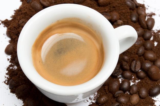 Tasse de café, gros plan