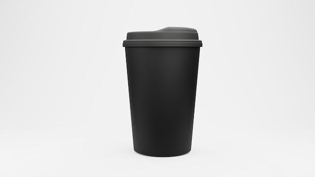 Tasse de café. isolé sur fond blanc. rendu 3d.