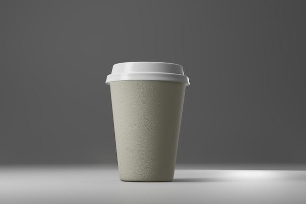 Tasse à café en papier rendu 3d