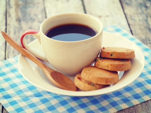 Tasse de café rétro style vintage