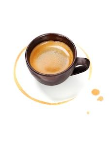 Tasse à café avec tache de café