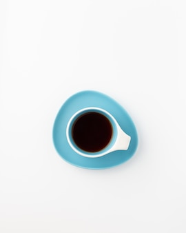 Tasse de café, vue de dessus