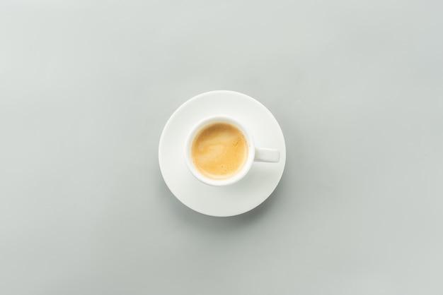 Une tasse d'espresso - vue de dessus