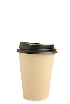 Tasse en papier de café isolé