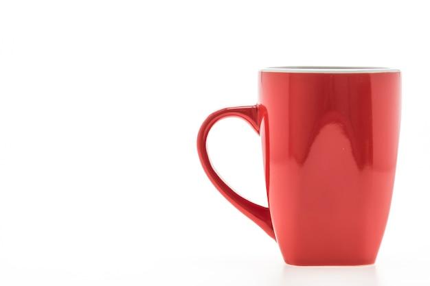 Tasse rouge avec des reflets
