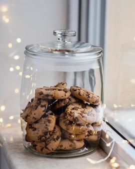 Tasse de thé et biscuits