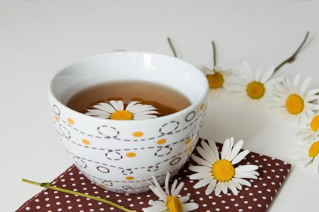 Tasse de thé à la camomille