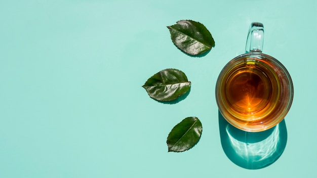 Tasse à thé plate poser nature morte