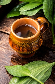 Tasse de thé sain