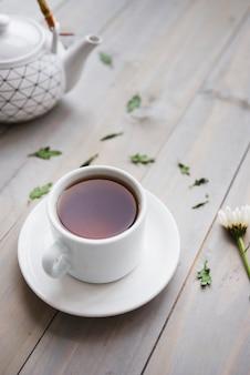 Tasse à thé avec théière