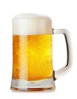 Tasse en verre avec de la bière