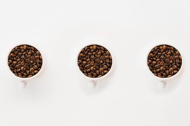 Tasses de café en grains