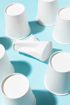 Tasses écologiques haute vue