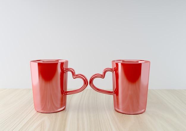 Tasses romantiques