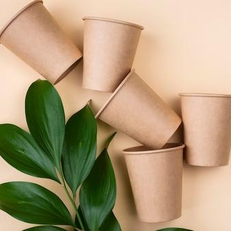 Tasses de vaisselle jetables écologiques