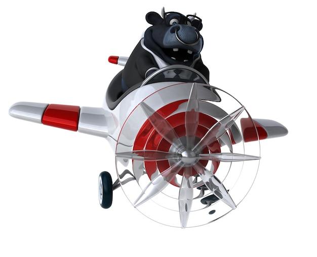 Taureau amusant - personnage 3d