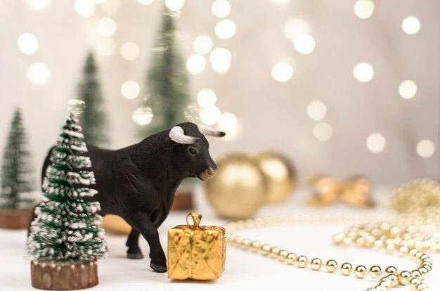 Taureau décoratif, symbole de la nouvelle année