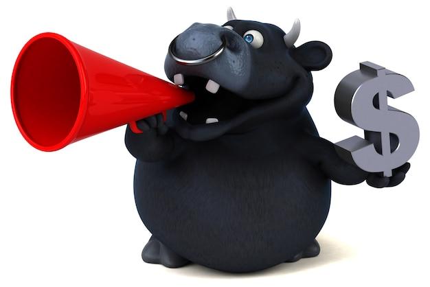 Taureau noir - illustration 3d
