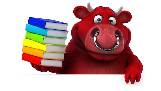 Taureau rouge - illustration 3d