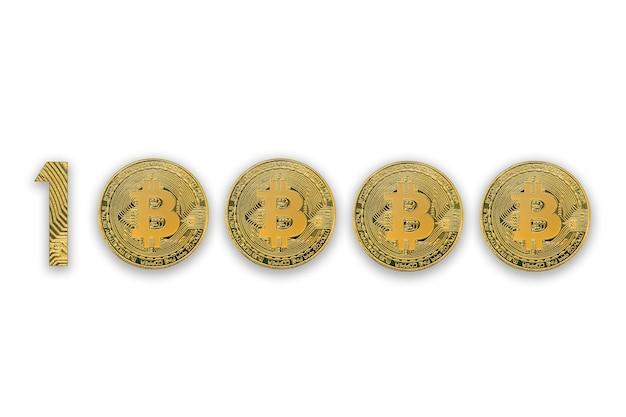 Taux de change de 10000 bitcoins, isolé