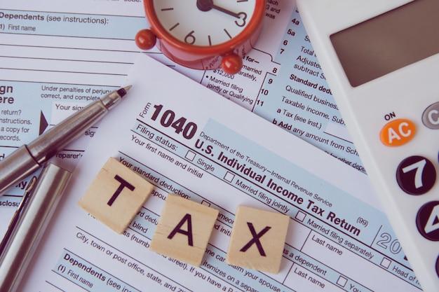 Taxes et formulaires