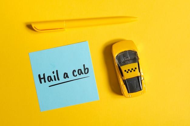 Taxi idiome en anglais sur autocollant - héler un taxi
