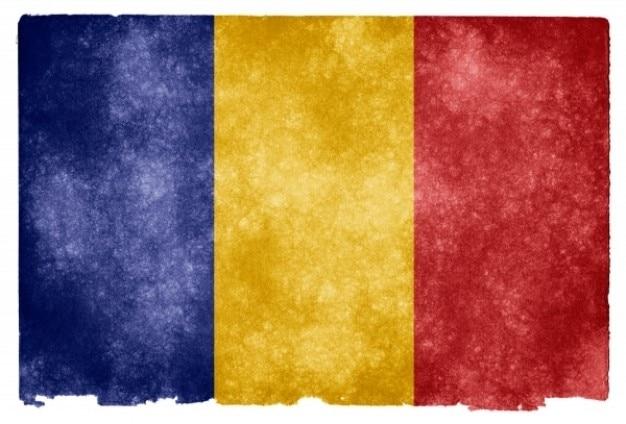 Tchad grunge flag