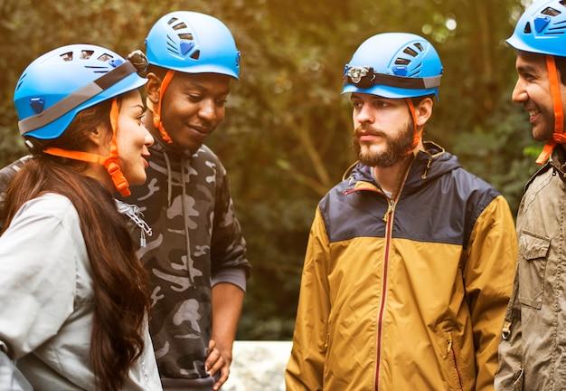 Team building en plein air en forêt