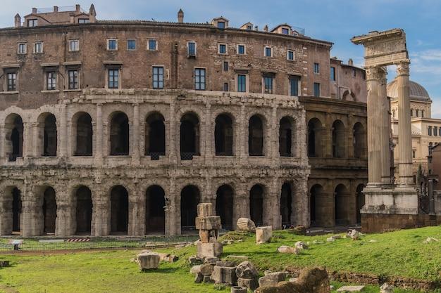 Teatro di marcello à rome, théâtre romain antique
