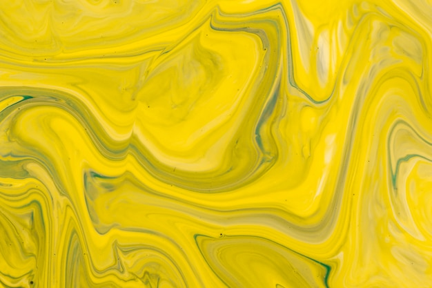 Technique de drainage jaune en acrylique
