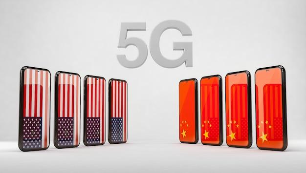 Technologie 5g entre les états-unis et la chine