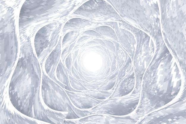 Technologie abstraite autour de fond de tunnel