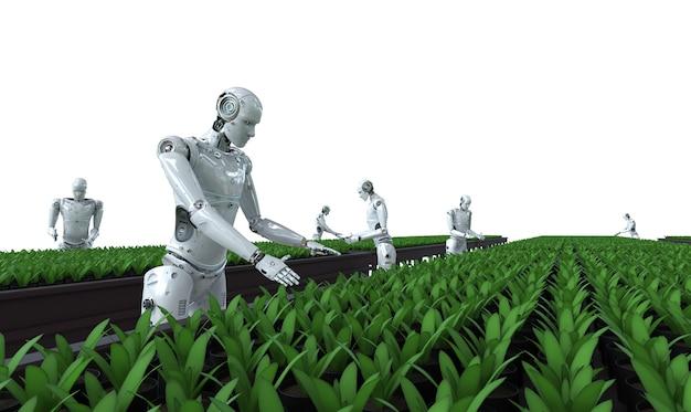 Technologie agricole avec des cyborgs en serre
