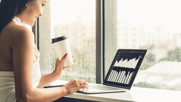Technologie d'analyse de données visuelles d'entreprise par un logiciel informatique créatif