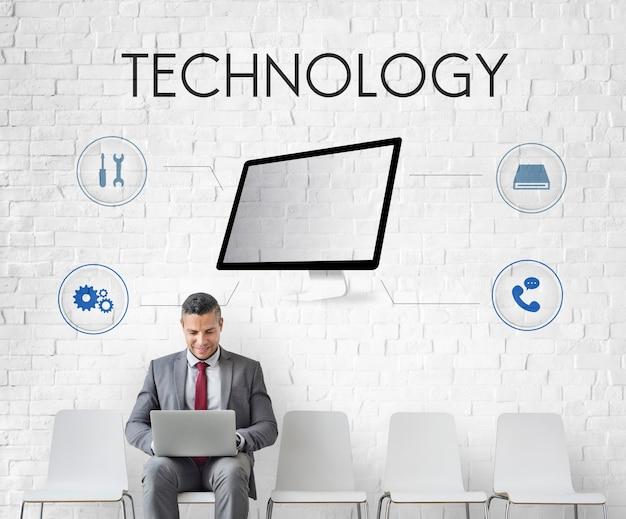 Technologie assistance technique réparation concept
