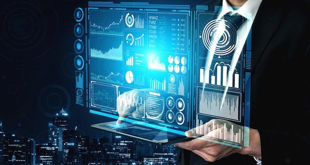 Technologie big data pour le concept de finance d'entreprise.