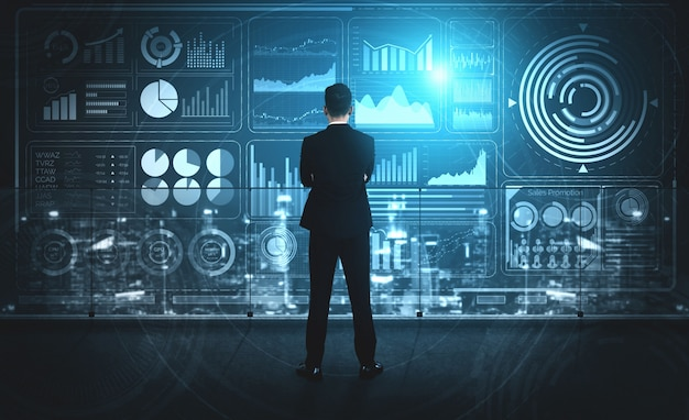 Technologie de big data pour le concept de finance d'entreprise.