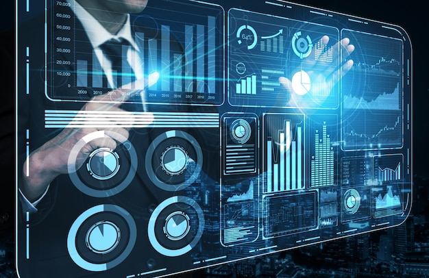 Technologie de big data pour le concept de finance d'entreprise.