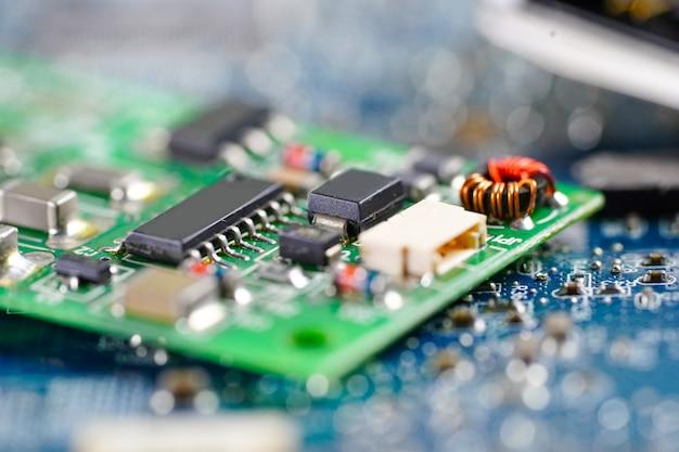 Technologie de la carte mère du circuit informatique.