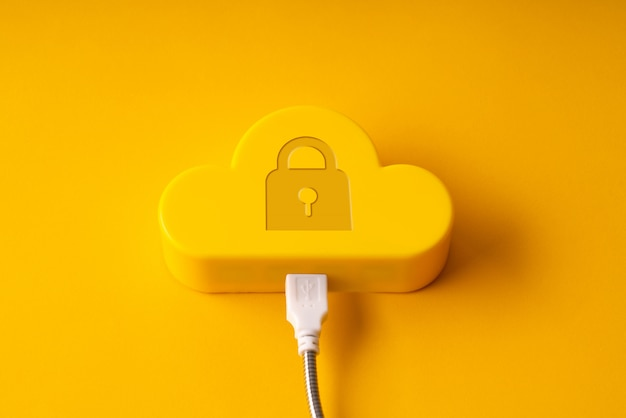 La technologie cloud sur coloré et créatif pour le concept d'entreprise mondiale