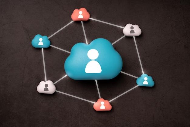 Technologie cloud pour le concept d'entreprise mondiale