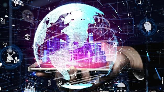 Technologie de communication 5g du réseau internet conceptuel