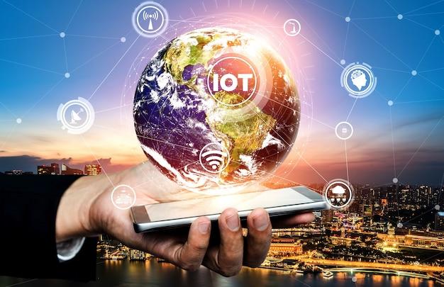 Technologie de communication 5g réseau internet sans fil pour la croissance mondiale des entreprises, les médias sociaux, le commerce électronique numérique et le divertissement à domicile