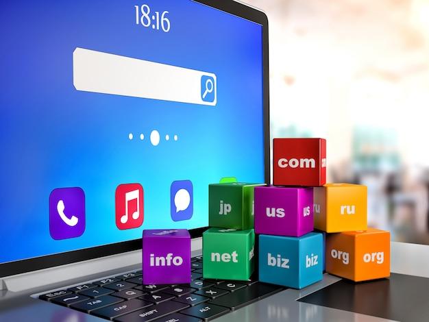 Technologie de communication internet globale abstraite pc