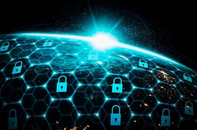 Technologie de cybersécurité et protection des données en ligne dans une perception innovante