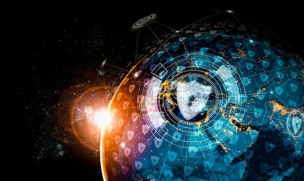 Technologie de cybersécurité et protection des données en ligne
